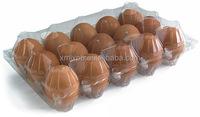 Clamshell blister package for eggs