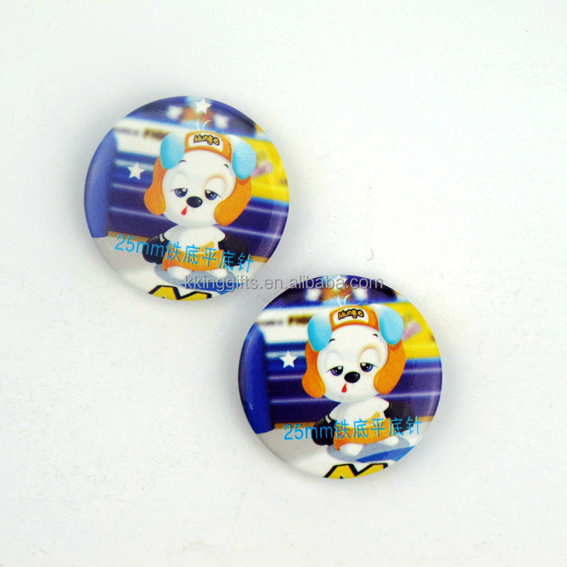 Small thin round magnet badge button mushroom shaped magnetic name badge
