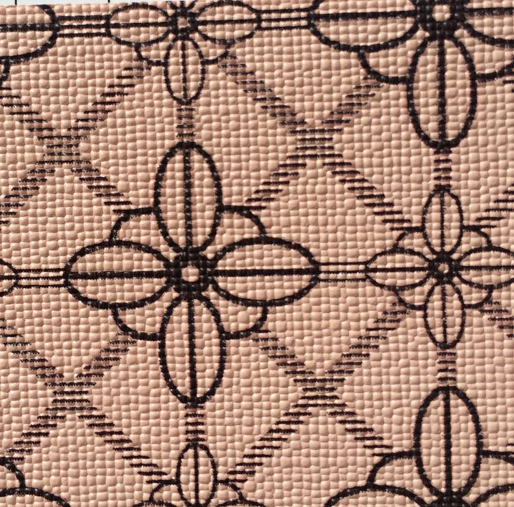 PU PVC Synthetic <strong>leather</strong> big and small flower geometry printed fabrics material for handbag