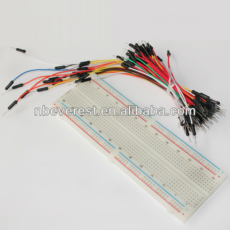MB-102 Solderless Protoboard and 75pcs Jumper Wire to Form Complete Circuits for Test