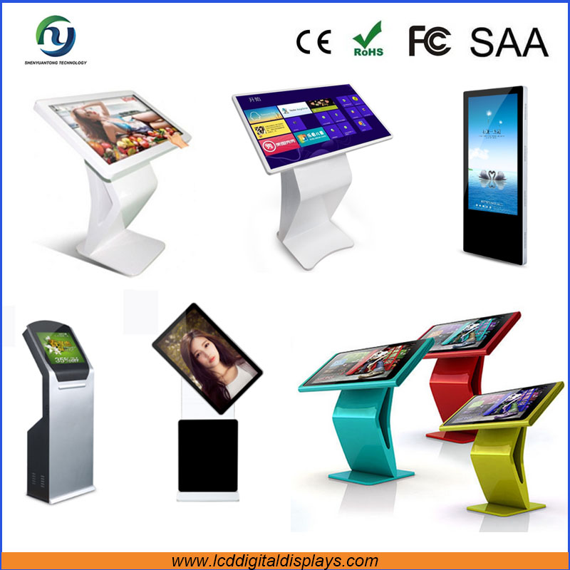 32/42/43/46/47/50/55/58 inch all in one android based wifi 3G touch screen touch screen kiosk totem lcd display