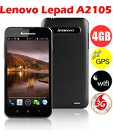 "Lenovo Lepad A2105 5"" Qualcomm 7227A 1GHz(CPU) 3G Mobile Phone Android 4.0 400*800 512MB+4GB 5.0MP WCDMA GPS Wi-Fi-Black"