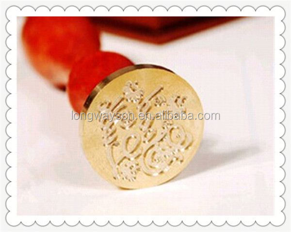 2014 2013 peacock handle wax seal stamp for letter