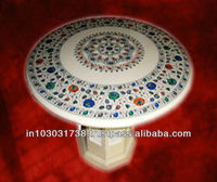 White Marble Stone Inlay Table Top With Base,.Tabletop Exporter Marble Inlay Table top Manufacturers Inlay Table