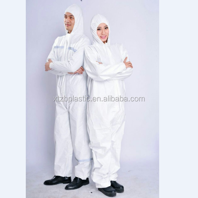 Buliding used type 5 6 disposable coveralls with reflective tape