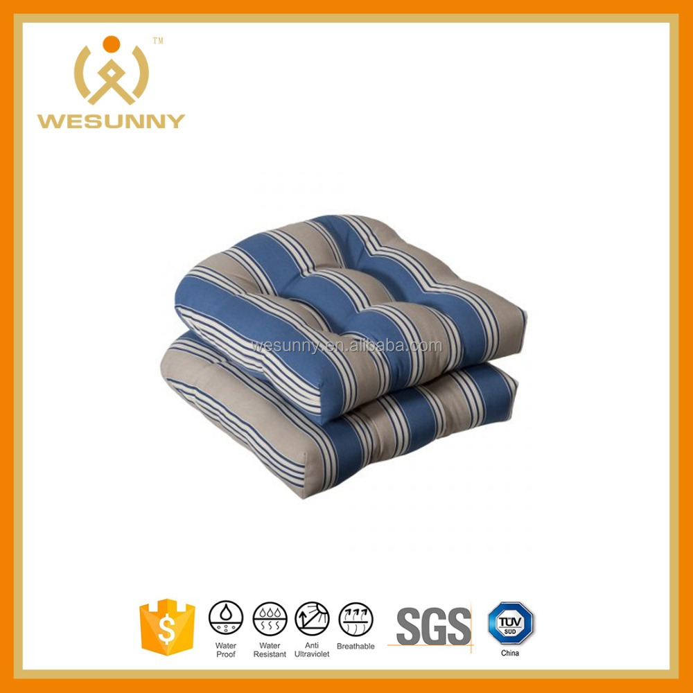 Hot Sale Polyester Fabric Plush Wicker Seat Cushion