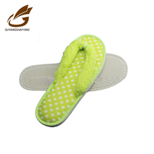 women dot EVA flip flop pvc slipper sole design