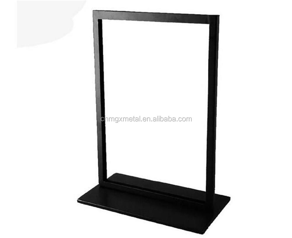 High Quality Double Sided Black Metal Advertising Display Stand
