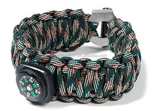 wholesale handmade braided paracord bracelet with compass