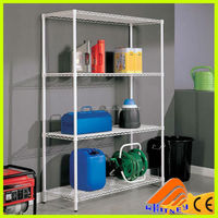 3-tier chrome wire shelf,nsf storage shelf metal rack,grocery store shelf