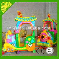 most interesting 4 cabins fiberglass electric mini train for children
