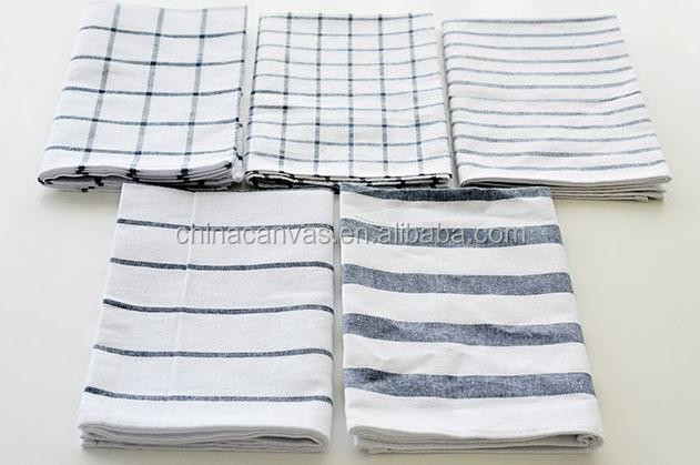 100% cotton colorful stripe tea towel dish towels wholesale