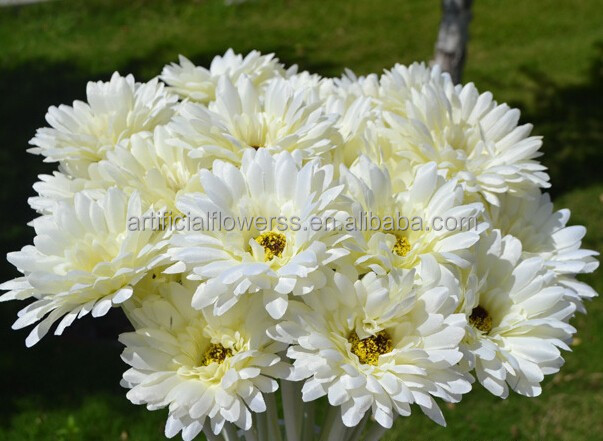 Single stem white Artificial flower Gerbera
