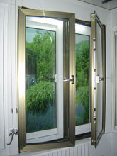 Aluminium casement window with thermally broken profile windows