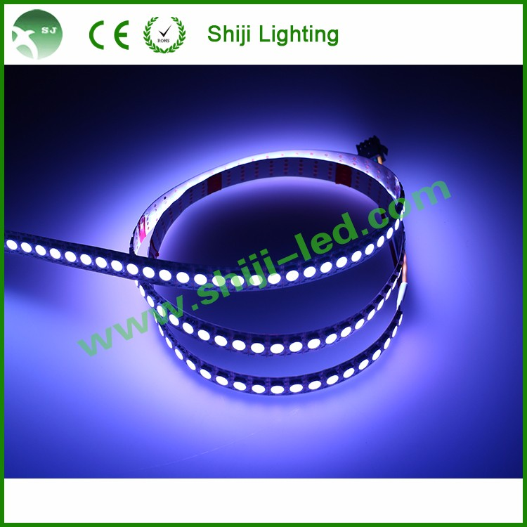 144 <strong>led</strong>/m WS2812 ws2811 Black/white PCB DC 5v 5050 smd flex rgb <strong>led</strong> pixel strip
