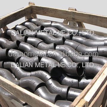 China cast iron pipe 3 way elbow pipe and fittings use for gas pipe compression fittings