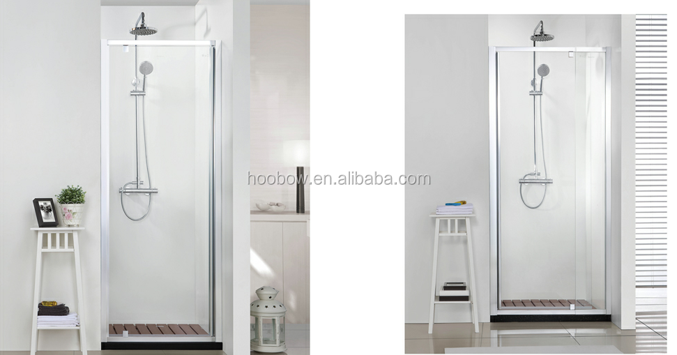 Popular Design Aluminum Pivot Small Size One Door Shower Screen Prefab Glass ANSI Modular Bathroom