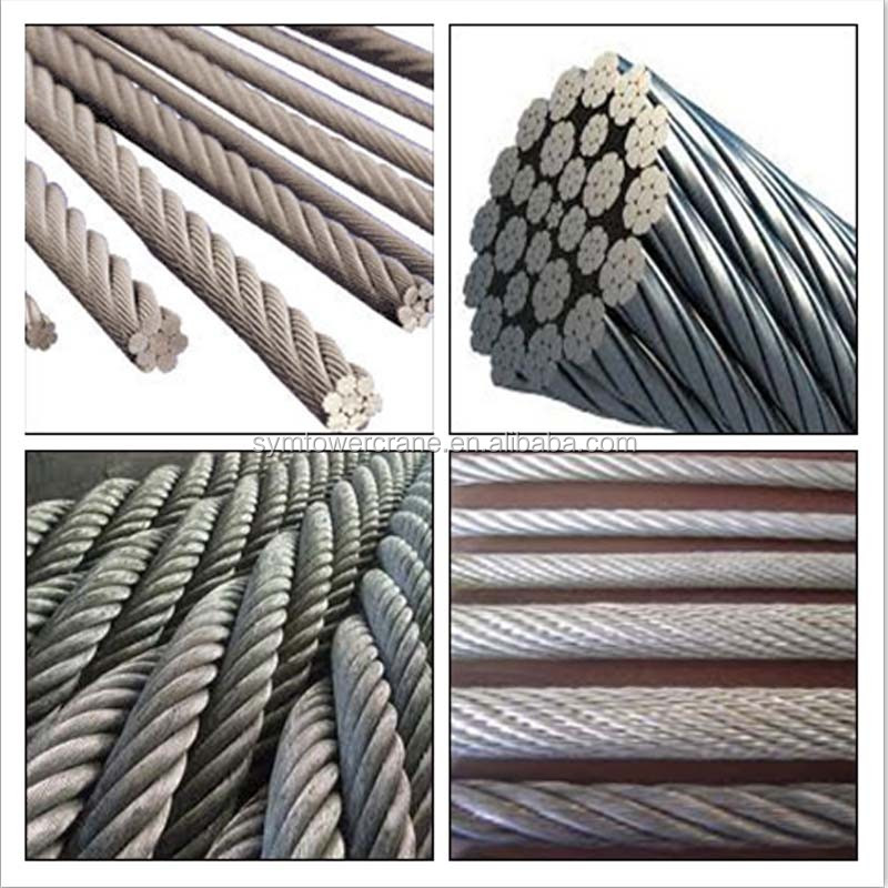 Zinc Plating High Carbon Steel For Tower Crane Steel Wire Rope ...