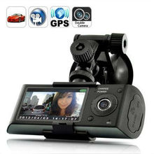 2.7 inch screen Dual Camera 5MP Car Blackbox DVR with GPS Logger and G-Sensor X3000