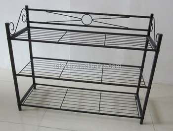 3-TIER METAL WIRE WITH SHOES RACK,STORAGE RACK, 3 TIER SHOES SHELF