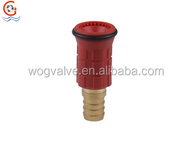 Brass and plastic jet/spray fire hose reel nozzle