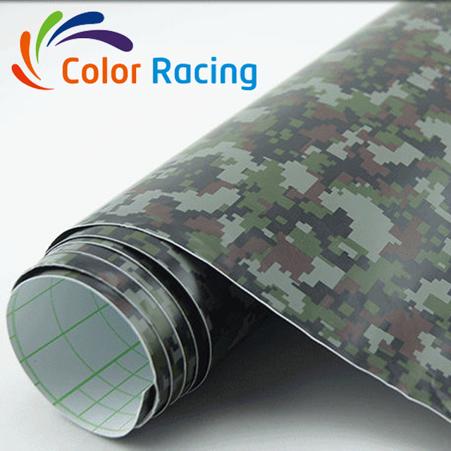 Top selling high quality camouflage car wrapping paper with air bubble free channel