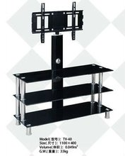 moving glass led tv stand design