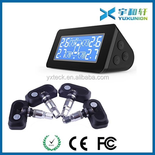 2016 Wireless Universal Solar Energy TPMS Monitoring System with 4 internal sensors