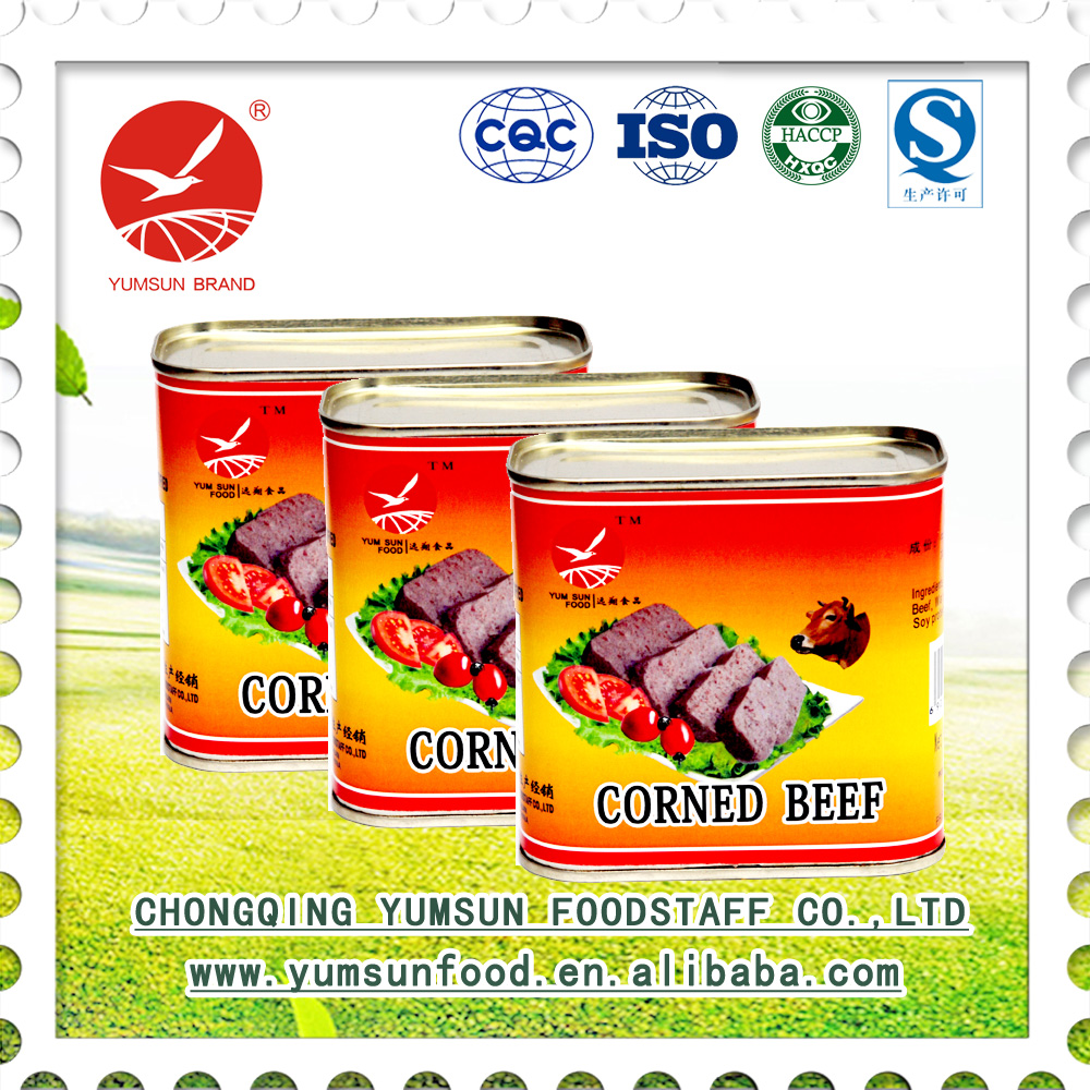 wholesale products tin can for food packing canned luncheon meat ready to eat corned beef brazil