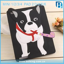 For iPad Mini Bulldog Silicone Tablet Cover Case Shockproof Soft Rubber 3D Case For iPad Air