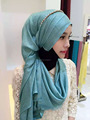 NL176 new style shimmer long muslim scarf