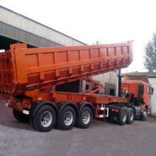 2 Axles/3 Axles Platform Rear Dump Semitrailer Widely Dump Semi Trailer for Sale