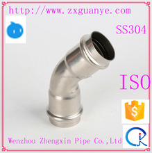 Stainless Steel Socket Weld 45 Degree Elbow Support