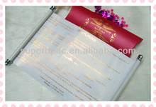 chinese customize scroll wedding invitations design wholesale
