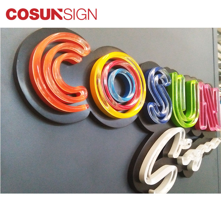 Cosun sign Free Design Wall Mounted Led  Letters Custom Neon Sign