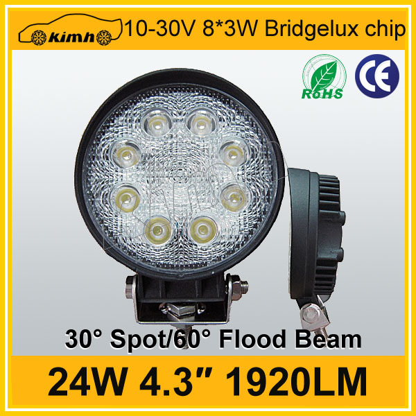 4.3 inch 24W 1920LM super bright led rechargeable work light
