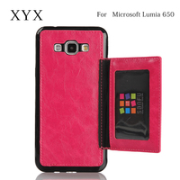 elegant and popular pu leather for microsoft lumia 650 wallet case cover