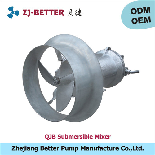 solid-liquid agitating submersible mixer with long service life carbon steel