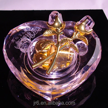 glass household decorations crystal music box factory price souvenir