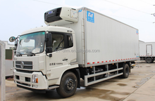 2016 Dongfeng 5 Tons 4X2 diesel Refrigerated Truck Box Meet Hook Refrigerator cooling van,Fresh meat truck For sale