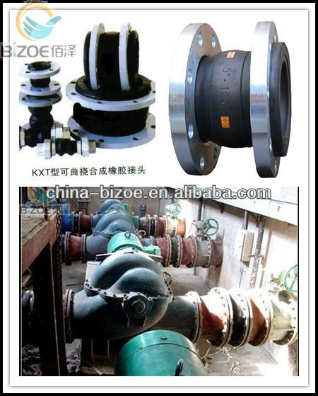 factory supply galvanized hypalon rubber expansion joint