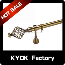 KYOK cheap price retractable iron,wholesale curtain metal curtain rod, competitive price curtain pole