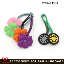 Factory custom zip puller rubber zipper pull tabs for garment accessories