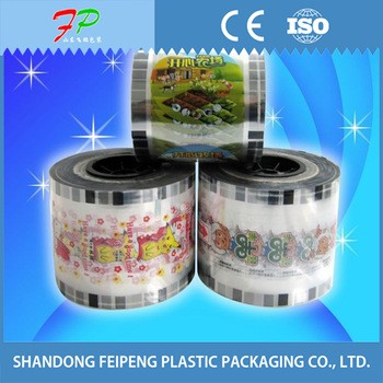 Hot ! food grade plastic cup sealing roll film for jelly packaging,milk tea