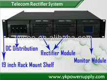 YUCOO Telecom Rectifier Rack-Mounted 48V 150a DC Power System