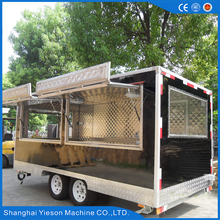 Yieson Quality-Assured Container Cart Mobile Food/ Trailer Food Vehicle Biscuit Production Stall Donut Machine