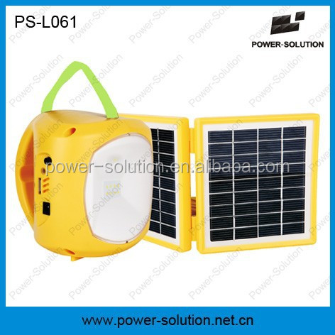 2W led solar lantern with cell phone charger and rechargeable battery