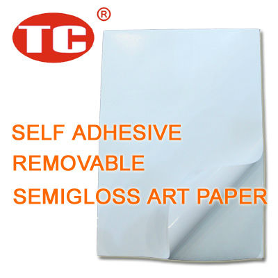 Self Adhesive Removable Semigloss Art Paper