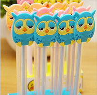 2014 Cute animal design cap plastic ball pen for student