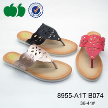 Latest fashion popular hot sale soft women pu slippers 2015